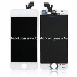 Оригинальный Дисплей iPhone 5s белый (LCD экран, тачскрин, стекло в сборе)