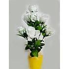 Букет роз на 7 голов NY-125 (14 шт./уп.) Искусственные цветы оптом, фото 2