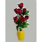 Букет роз на 7 голов NY-125 (14 шт./уп.) Искусственные цветы оптом, фото 3