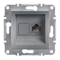 Розетка компютерна Schneider Electric Asfora сталь