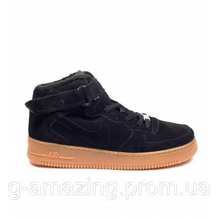 """Зимние Nike Air Force 1 High """"Black Gum"""""""