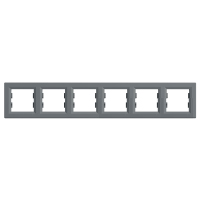 Рамка шестимісна, горизонтальна, Schneider Electric Asfora сталь