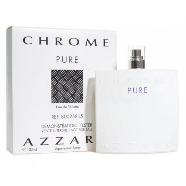Azzaro Chrome Pure туалетна вода 100 ml. (Тестер Аззаро Хром Пур)