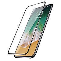 """Защитное стекло Baseus на весь экран для Apple iPhone XS (5.8"""") черный"""