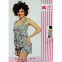 Комплект женский майка и шортики Sevim 5160