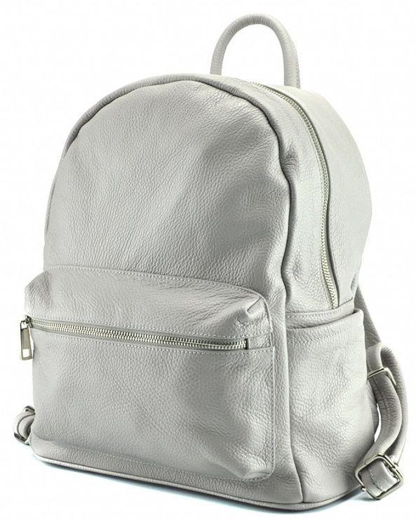 9f0af1941acd Женский рюкзак кожаный Virginia Conti 0459GR, 11 л, серый - SUPERSUMKA  интернет магазин в