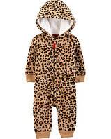 Комбинезон флисовый Картерс на девочку 3-6-9-12-18-24 мес. Leopard Fleece Jumpsuit Carter's (США)