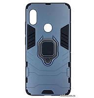 Бронированный противоударный чехол Transformer Ring для Xiaomi Redmi Note 5 Pro / Note 5 (AI DC) Metallic Grey