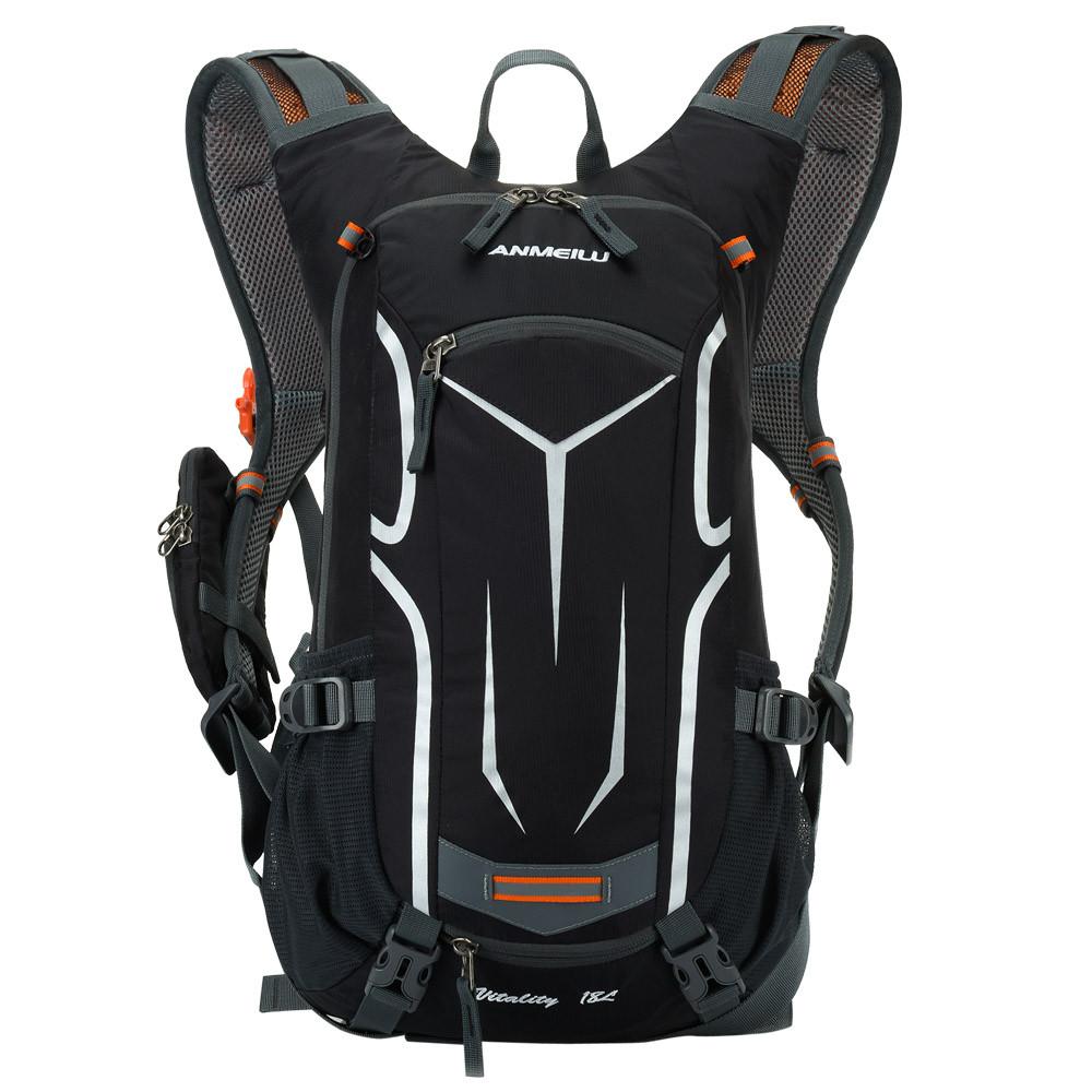 Спортивный рюкзак Anmeilu 18L, велорюкзак Черно-серый