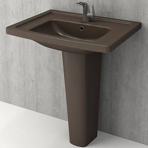 Умивальник 65x45 BOCCHI Taormina Arch Lavabo 60, коричневий матовий, кераміка, Новое