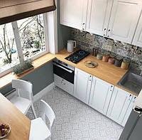 Кухня на заказ с подоконником в хрущевке