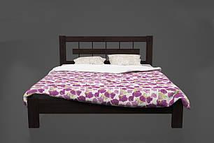 Ліжко односпальне з натурального дерева 80*190 Такка Kempas