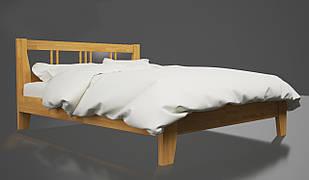 Ліжко з натурального дерева односпальне 80*190 Юкка Kempas