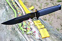 Разведчик нескладной туристический нож длина 26,5 см рукоять металл дерево чехол из ткани вес 178 г