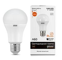 Светодиодная лампа GAUSS Elementary A60 15 Вт 3000K  E27 180-240 В