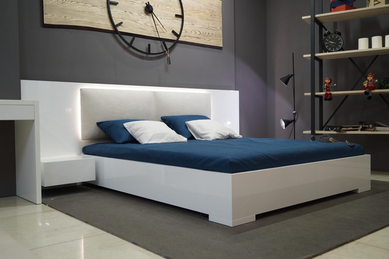 Кровать с тумбами Silver глянец