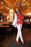 Рубашка женская красная АХ-01238, фото 1