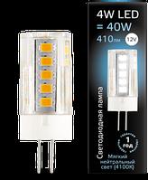 Светодиодная лампа GAUSS G4 4 Вт 4100K керамика 12 В