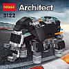 Конструктор Транспорт Decool Architect 36 в 1 3122 256 деталей, фото 5