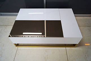 Журнальный стол Golden style на металлической опоре, фото 2