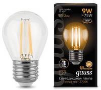Светодиодная лампа GAUSS Black filament globe P45 9 Вт 2700K E27 180-265 В