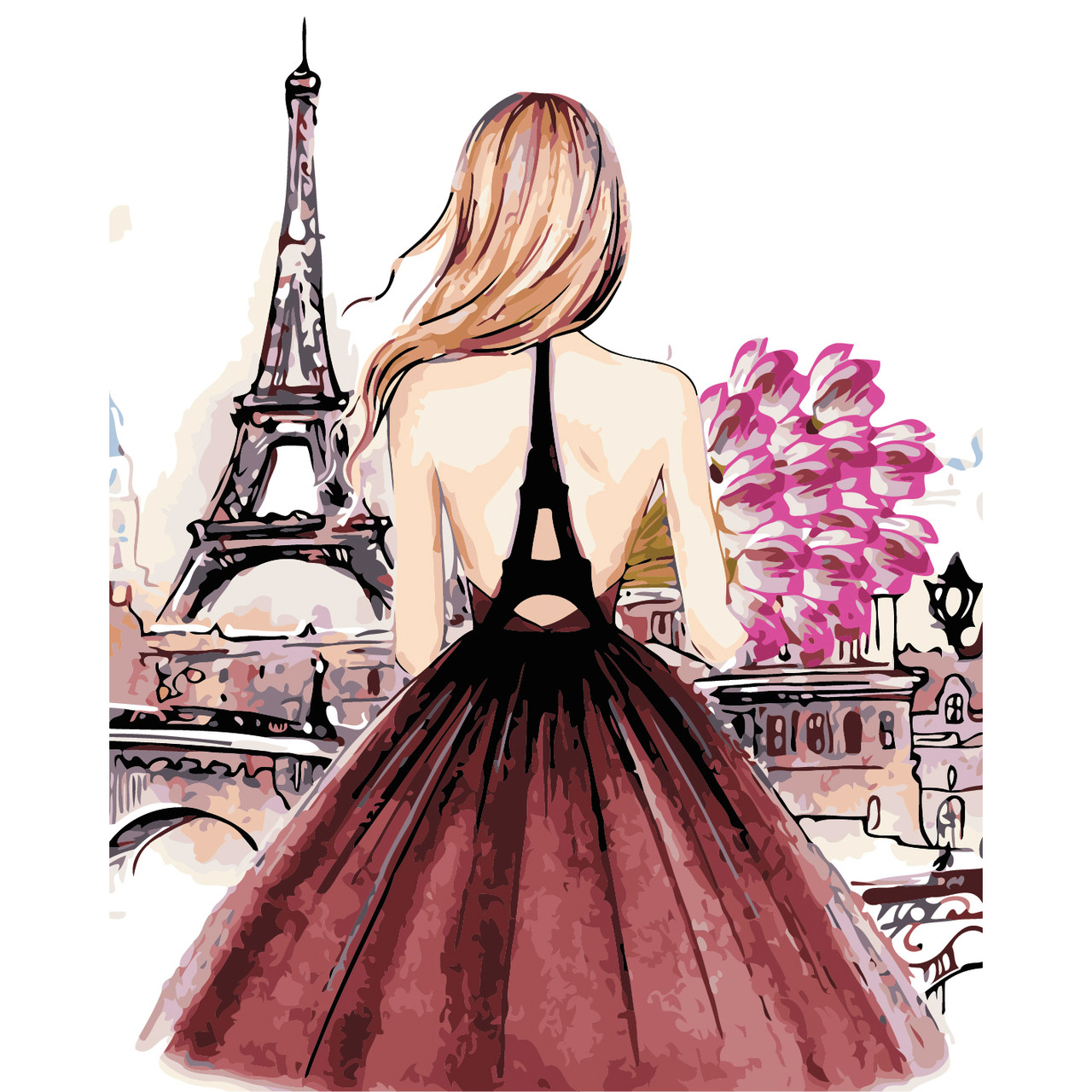 Художественный творческий набор, картина по номерам Красотка в Париже, 40x50 см, «Art Story» (AS0442)