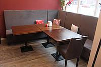 Угловой диван в кафе или ресторан (Серый)