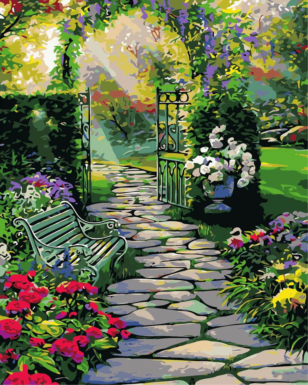 Художественный творческий набор, картина по номерам Волшебный сад (Ru. Cobane), 40x50 см, «Art Story» (AS0382)