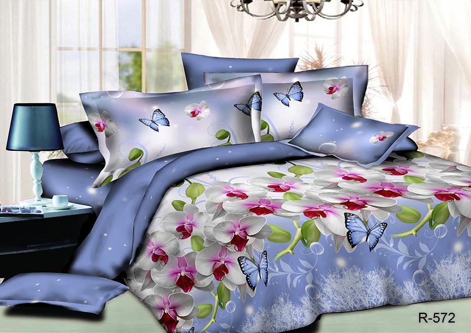 Двуспальный набор постельного белья 180*220 из Ранфорса №312 Черешенка™