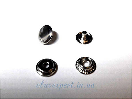 Кнопка Каппа 15 мм Никель (10 шт), фото 2