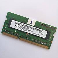 Оперативная память для ноутбука Micron SODIMM DDR3 2Gb 1333MHz 10600s CL9 (MT8JSF25664HZ-1G4D1) Б/У, фото 1