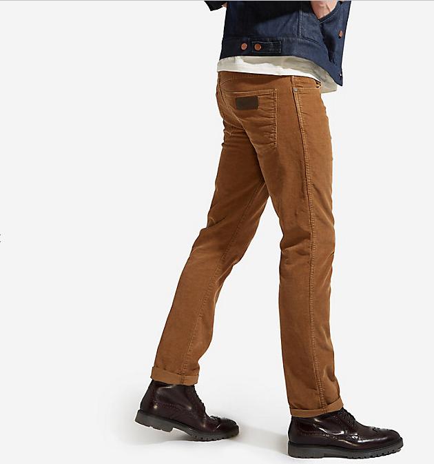 Вельветовые брюки Wrangler - Bison Washed