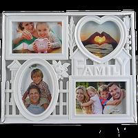 Семейная фоторамка коллаж на 4 фото