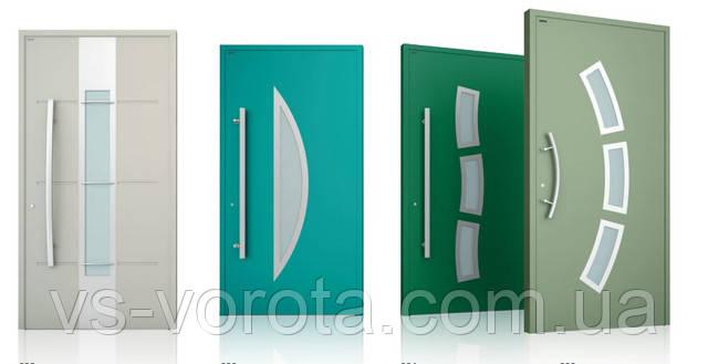 Наружные входные двери из алюминия - уличные конструкции для дома в современном стиле