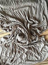 Снуд  шарф однотонный бежевый жатый
