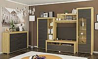Стенка в гостиную Неон 1 + комод Мебель-сервис
