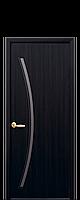 Дверне полотно Діва зі склом сатин колір Венге DeWild