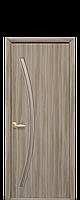 Дверне полотно Діва зі склом сатин колір Сандал