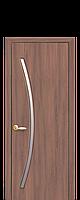 Дверне полотно Діва зі склом сатин колір Вільха 3D