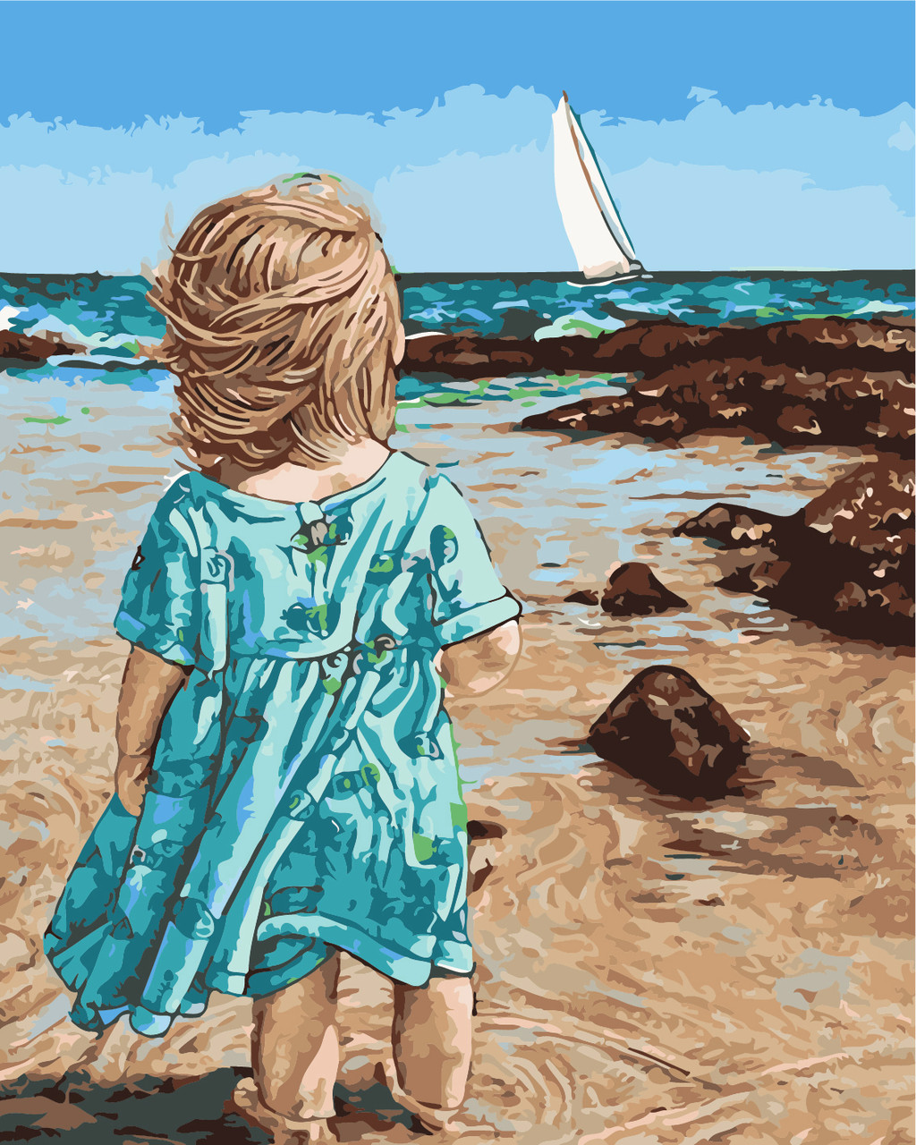 Художественный творческий набор, картина по номерам Маленькая Асоль, 40x50 см, «Art Story» (AS0451)