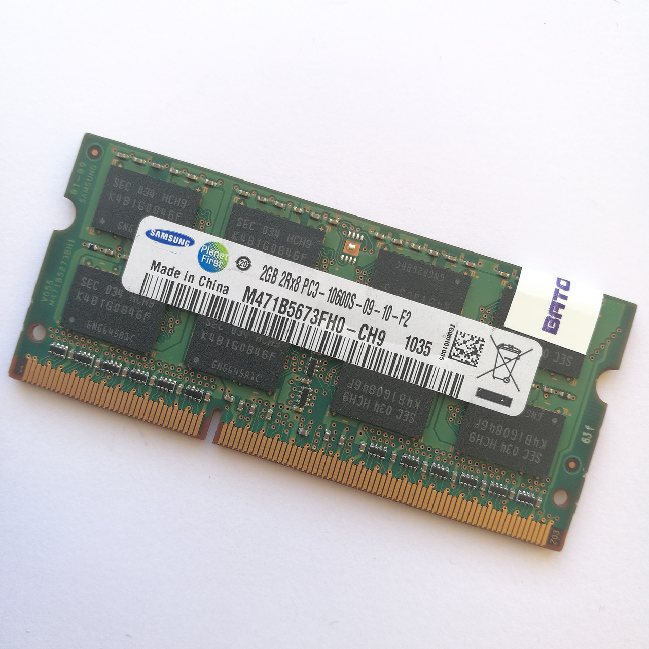Оперативная память для ноутбука Samsung SODIMM DDR3 2Gb 1333MHz 10600s CL9 (M471B5673FH0-CH9) Б/У