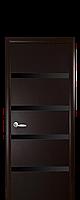Дверне полотно Нота з чорним склом колір Венге DeWild
