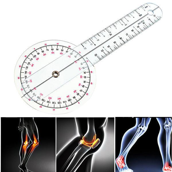Гониометр линейка для измерения подвижности суставов 320 мм 360°