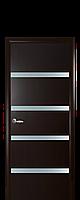 Дверне полотно Нота з дзеркалом колір Венге DeWild