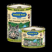 Winner Plus (Виннер Плюс) консервы для кошек с говядиной и ягненком, 395 г