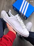Мужские кроссовки Adidas Stan Smith (бело-черные), фото 2