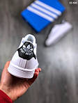 Мужские кроссовки Adidas Stan Smith (бело-черные), фото 3