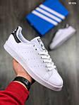 Мужские кроссовки Adidas Stan Smith (бело-черные), фото 5
