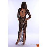 XS-S Плаття з гіпюру в підлогу з відкритою спиною і розрізом внизу, фото 2