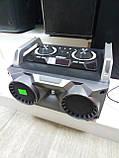 Портативный бумбокс караоке Ailiang UF-1506A-DT сабвуфер USB\ Bluetooth\ FM-тюнер\ Пульт ДУ, фото 3